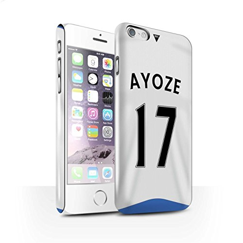 Offiziell Newcastle United FC Hülle / Glanz Snap-On Case für Apple iPhone 6 / Krul Muster / NUFC Trikot Home 15/16 Kollektion Ayoze