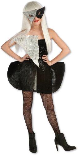 Lady Gaga Black Sequin Dress Child Costume - Tween Small by Rubie's