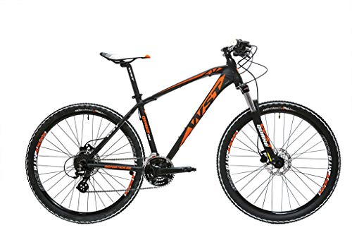WST Quake 724 Bicicleta de Montaña, Adultos Unisex, Negro, L