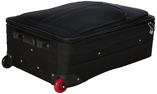 4159D6gHElL - 5 Cities Juego de maletas, negro (Negro) - 602 21/26/29, TB830 HD602 BLK