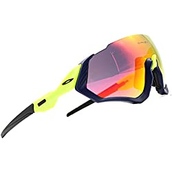 ZoliTime 2018 New Oakley OO9401flight Jacket Gafas de Ciclismo (Verde)