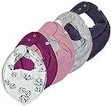 Pippi 4er Set ~ zur Auswahl ~ Baby Dreieckstuch Halstuch 4 Stück Organic Cotton grau altrosa beere dunkelblau + 1 GRATIS Tuch (grau-altrosa-beere-dunkelblau&Stripes)