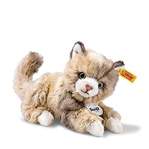 Steiff 099663Lucy Gato, diseño a Lunares, Color marrón