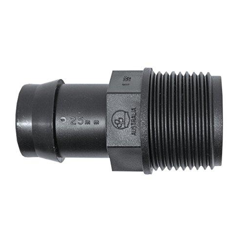Plant it BSP femelle de tuyau avec écrou prisonnier et 1 pouces 25 mm – 25 Pack – 44075, noir, 5.4 x 4 x 4 cm, 13–630–955