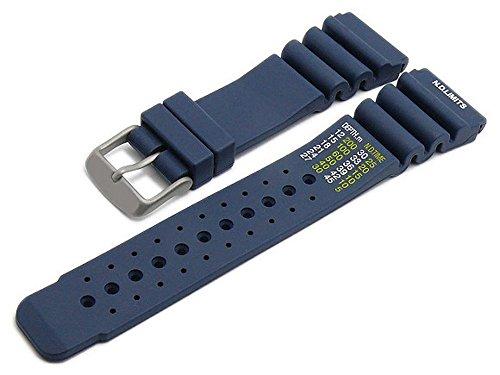 Meyhofer Uhrenarmband Wilhelmshaven 22mm dunkelblau Silikon Taucher-Look Titanschließe MyHekskb188/22mm/dblau/oN