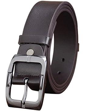 Tefamore Mens Casual Bund Leder automatische Schnalle Gürtel Taille Riemen Beltss