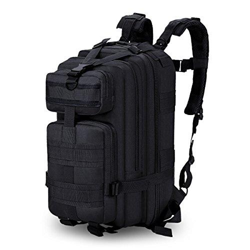 Vgeby 35l zaino multifunzionale militare impermeabile di nylon camuffamento zaino da trekking campeggio escursione ( colore : nero )