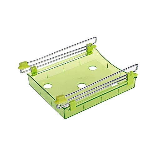 Multifunktionale Kühlschrank ausziehbare Schublade Home Küche Lebensmittel Frische Crisper Rack Storage Inhaber Gefrierschrank Regal - Grün - Küche Pull-out-regale