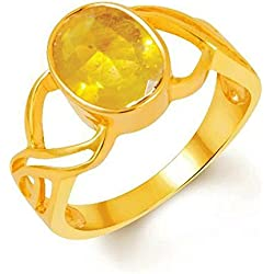 Pukhraj Ring 5.25 Ratti /4.8 Carat Natural Certified Yellow Sapphire Pukhraj Gemstone Panchdhatu Unisex Ring (16)