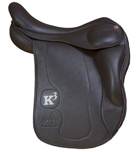Karlslund Riding Equipment K3 Sattel mit kurzen Kniepauschen, 17 Zoll, k115kk-17-26