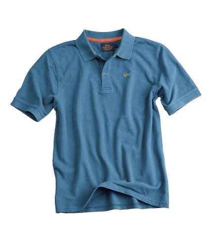 Alpha Industries Classic Polo Poloshirt Black Grey Heather