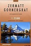 Swisstopo 1 : 25 000 Zermatt Gornergrat: Zusammensetzung (Landeskarte)