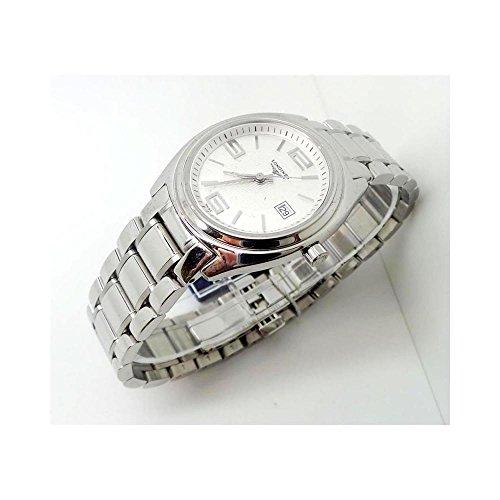 Uhr Longines Lange Meer L35094766Quarz (Batterie) Stahl Quandrante weiß Armband Stahl
