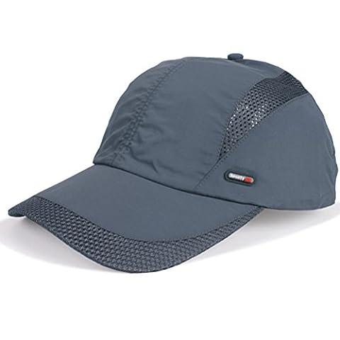 GADIEMENSS Quick Drying Breathable Hat Outdoor Cap (Deep Grey)