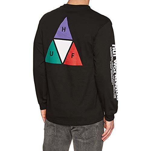 HUF Prism Triple Triangle Long Sleeve T-Shirt X Large Black