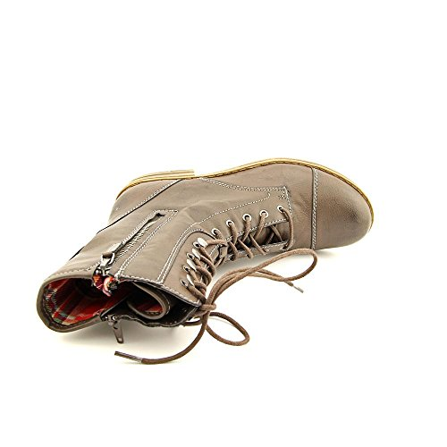 American Rag Deputy Rund Kunstleder Mode Mitte Calf Stiefel Taupe