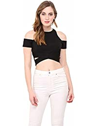 LE BOURGEOIS Crop top with Cut Out Sleeve for Women