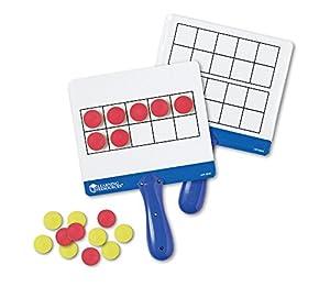 Learning Resources- Tablas de respuestas magnéticas con cuadrículas de Diez Casillas, Color (LER6645)