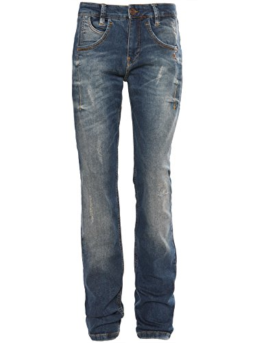 Mogul Damen Slim Fit Jeans Destroyed Denim