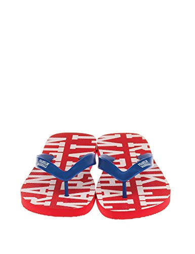 Franklin & Marshall Men's Man's Flip Flops In Red Color 100% Cotton red