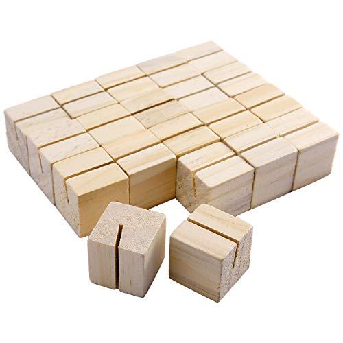 ngen Tischnamenhalter Kreativ Holz Notenständer Zahlen Platz Memo Foto Karte Clip für Hochzeit Party Feier Dekorationen 3 x 3 x 3cm ()