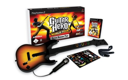 Guitar Hero: World Tour - Karaoke Bundle (inkl. Gitarre + Mikrofon) (Ps2 Video Game Bundle)