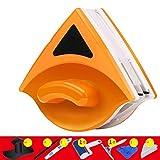 Gmjay Magnetico Registrabile del Tergicristallo di Vetro a Doppia Faccia Adatto a Finestra di Automobile/Bagno/Finestra/Superficie dello Specchio,Orange,B