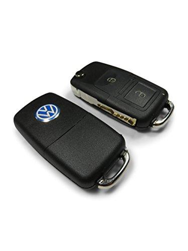 Fernschlüssel zum Aufbewahren mit Versteck vom Lock and Key Giant, der geheime Versteckschlüssel wird auf der einen Seite mit einer vorgestanzten Schlüsselklinge geliefert, sodass er genau wie ein authentischer Autoschlüssel aussieht. Die Fernbedienung mit verstecktem Geheimfach hat zudem einen VW-Aufkleber, der das Aussehen und die Glaubwürdigkeit des geheimen Autoschlüssels perfekt abschließt. Echt genug, um die schärfsten Augen zu täuschen. Der Schlüssel wird aus haltbaren Materialien mit großer Robustheit gefertigt, die den Test der Zeit überdauern werden, ein großartiges Versteck. (3 Golf Club)