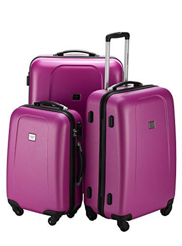 Kofferset Hauptstadtkoffer Hartschale Serie Wedding 42,67 und 103 Liter mit TSA in 9 verschiedenen Farben inkl. Kulturtasche (Magenta)
