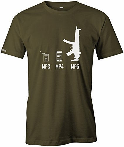 MP3 - MP4 - MP5 - EVOLUTION - HERREN - T-SHIRT in Army by Jayess Gr. XXL