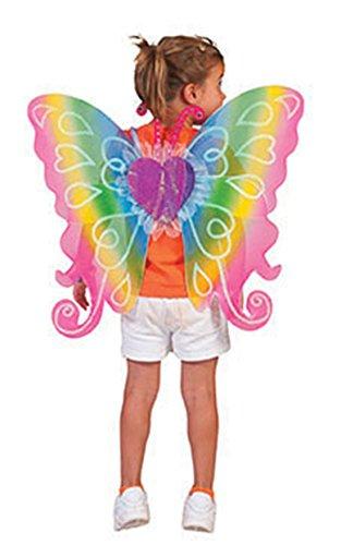 Halloweenia - Kinder Kostüm Flügel mit Herzprint 60x54cm -