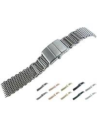 jrrs777722mm banda de reloj de pulsera de malla de acero inoxidable titanio 1222whipd1600t