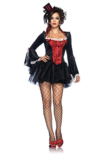 Leg Avenue Transylvania Temptress Schwarz-Rot M/L, 1 (Hexe Sexy Hot)