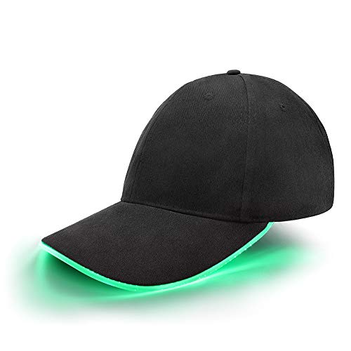se Cap Schildmütze Einstellbarer Hut Baseball Blitz Käppi mit LEDs Blinkt für Party Club Bar Sportlich Reise Tour Sport Golf Hip-Hop LED-beleuchtet,LED-Taschenlampen Hüt ()