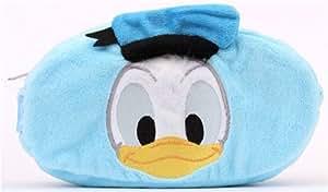 Trousse en peluche Disney réversible bleue avec Donald Duck