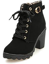 Botas Mujer Otoño invierno 2017 Zapatos de plataforma Zapatos de tacón botines Amlaiworld