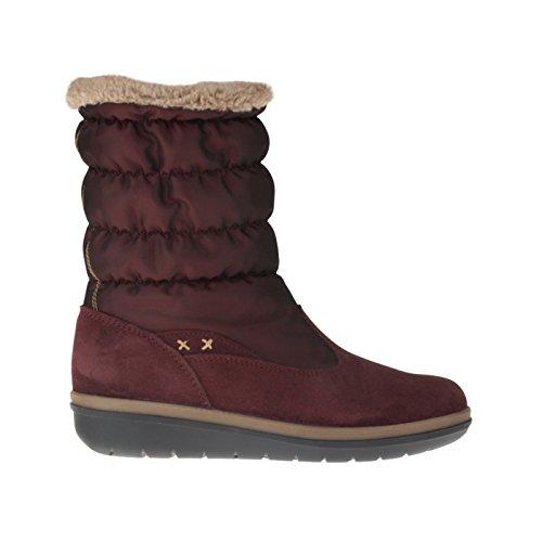 tessamino Damen Stiefel aus Tex-Membran und echtem Leder, Weite H Rot