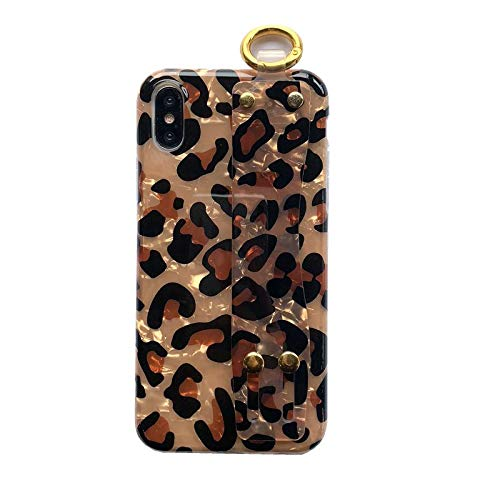 GUYISJK Mobile Phone Case Leopard Armband Armband Apple X XS Max 8 Plus 7 Plus All-Inclusive Apple Xr Soft Shell Damen Handytasche, 7. 8. Generation -