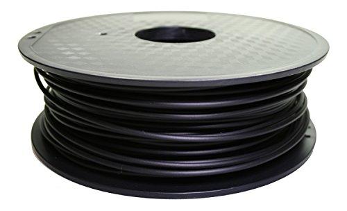 MEX3D PLA Filament für den 3D-Druck - 1,75 mm - 1 kg Spule / Rolle - Schwarz - erhältlich auch in vielen anderen Farben - 3D Drucker, 3D Druck, FDM, 1.75 mm