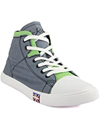 Isole Grey & White Canvas Shoes