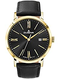 Dugena Herren-Armbanduhr Sirius - Trend Line Analog Quarz Leder 4460645