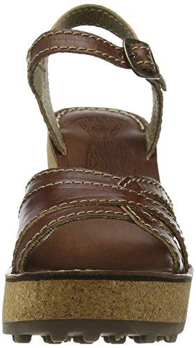 FLY London Gort645, sandales compensées  Femme Marron (Tan 007)
