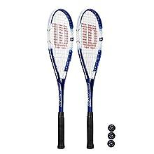 Wilson Impact Pro 500 Squash Racket x 2 + 3 Squash Balls