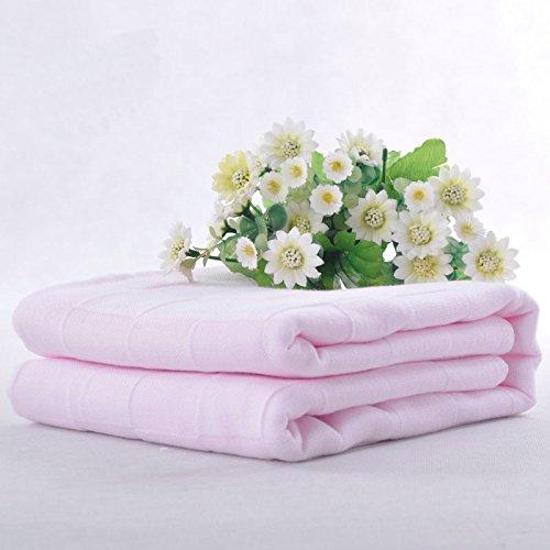 DANCICI Baby Baby Handtuch Baumwolle Baby Handtuch Baumwolle Doppel Gauze Großes Handtuch Zwei Gaze 70 * 140cm Single, Hellrosa Hell-Pink