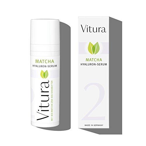 Hyaluronsäure Intensivpflege-Serum mit BIO Matcha und BIO Sheabutter - Vitura Naturkosmetik Matcha-Pflegeserie #2 speziell für die...