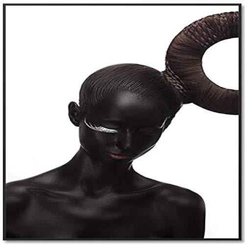 Mode weiß schwarz trendy mädchen leinwanddruck malerei leinwand wandkunst abstrakte malerei Dekoration 40x80 cm