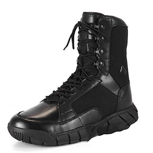 Stivali da combattimento Confortevole estate speciale forze super leggero stivali traspiranti stivali tattici terra scarpe da trekking stivali Stivali bassi Ultralight Viaggia camminando Black-44