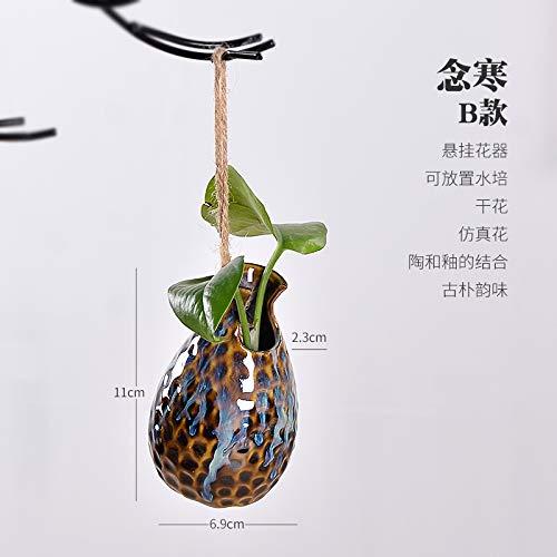 KOONNG Keramik hydrokultur vase Glas transparent behälter Nordic kreative Wand Schlafzimmer Foto Dekoration malerei Dekoration, hängende vase (Nanhan B) -