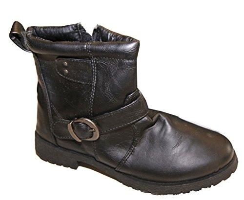Pierre-cedric Chaussure Bottine Bottes Garçons Simili Cuir Boucles Cotés Pointures 28 au 35