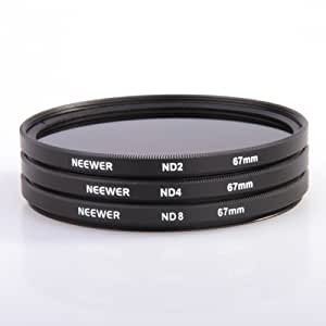 New!ND2 + ND4 + ND8 67MM Neutral Density Filter 67 MM